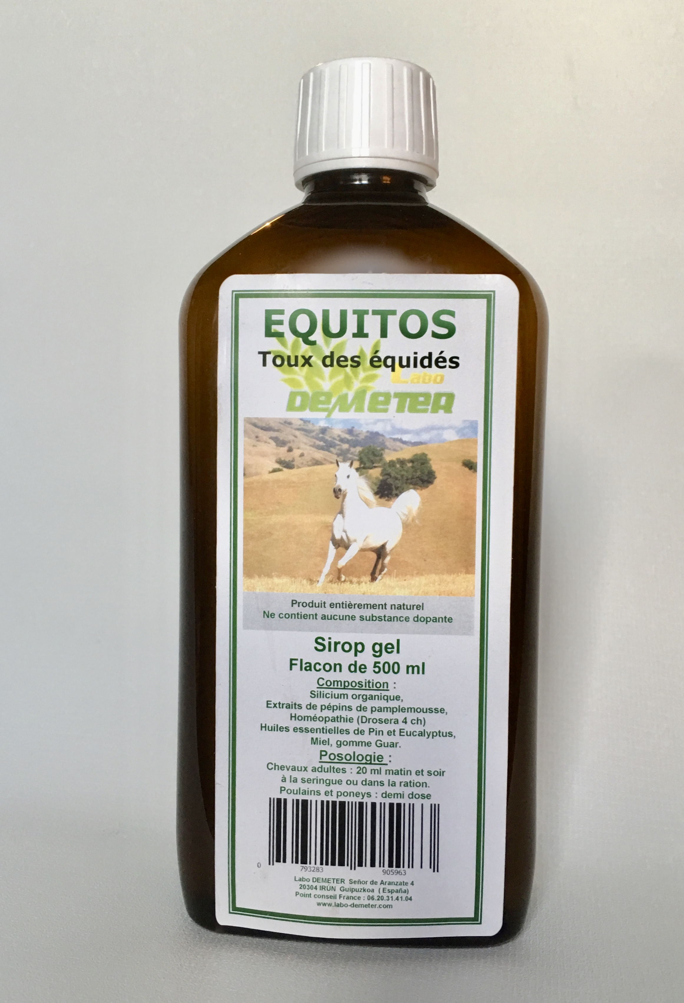 Equitos toux cheval naturel